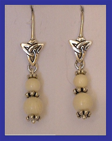 12th Century Celtic EarringsMammoth Ivory$59.50