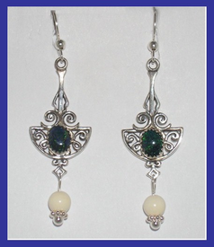 18th Century Tlingit CeremonialEarrings II Opal and Mammoth Ivory$51.50