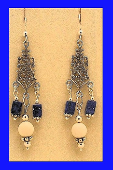18th Century Tlingit CeremonialEarrings IVLapis and Mammoth Ivory$64.50