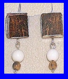 Bering Sea Yupik - Koskokwim DeltaCeremonial Earrings IIFossil Walrus Ivory With Mammoth Beads$49.50