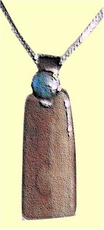 Chukchi Warrior-Woman's Amulet WithOpal