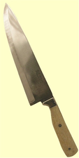 "CustomKitchen Cutlery440C Stainless SteelHollow Ground Chef's KnifeFossil Walrus Ivory Handle8"" or 10"" Blade"