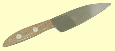 Custom Kitchen CutleryErgonomicChef's Utility Knife8A StainlessFossil IvoryPegs5 Inch Blade