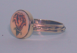 <b>Fossil Ivory<br>14 KT Solid Gold or Sterling Silver Celtic Princess Ring</b>