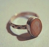 Fossil Ivory14 KT Solid Gold or Sterling Silver Celtic Princess Ring