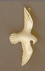 Fossil IvoryHand CarvedPeace DovePendant