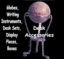 Gallery of Personalized Fossil Ivory Writing Instruments, Desk Accessories, Globes, Boxes, Display Pieces