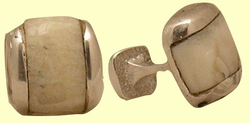 Fossil IvoryInlaySterling SilverCufflinks