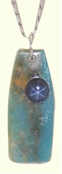 Kamchatka Blue Star TalismanWithBlue Star Sapphire and Blue Fossil Walrus Ivory