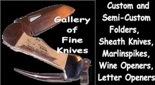 Heirloom-Quality, Personalized Fossil Ivory Custom, Semi-custom Folders, Sheath Knives and Kitchen Cutlery
