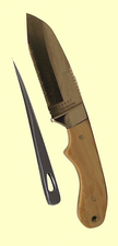 MyerchinOffshore SystemFixed BladeSailors'Rigging KnifewithMarlinspikeFossil Ivory Handles