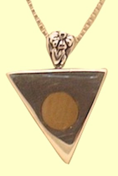 Contemporary Silver Talisman With Mammoth Ivory InlayReversible! With Whale Tail!