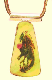 New !Sterling SilverScrimshawDragon PendantFossil Walrus With RubySALE!20% OFF!!