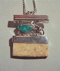 North Siberian Coast Amulet WithOpal