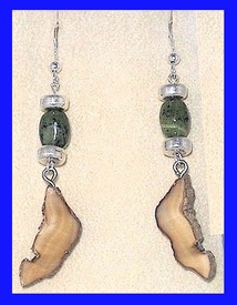 Paleo IndianEarringsFossil Walrus With Jade Bead$27.50
