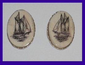 Scrimshaw EarringsFour Shapes and SizesFossil Ivory$64.50