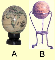 <b><i>Scrimshaw</i><br>Ivory <br>Globe<BR>Shipped Only to Addresses in Maryland</b>