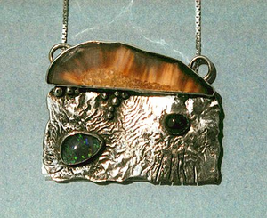 Smoking Coast Amulet IV - IISterling Silver, Opal and Garnet $153.50