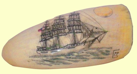 scrimshaw whale tooth downeaster hotspur