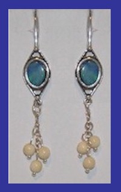 TlingitWoman Shaman'sEarrings IIOpal and Mammoth Ivory$54.50