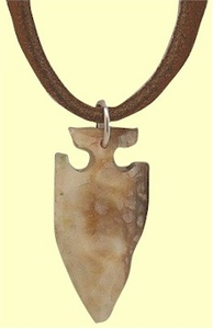 Yupik Fossil Ivory Projectile Point Amulet