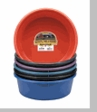 4 (four) 5 quart pans 1 each of Black, Red, Green, Blue