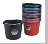 7 (seven) 20 Quart Flat Back Buckets - One in Each Color