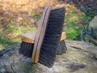 """8 1/4"""" Curved Back Style Stiff Mud Brush with Natural Fibers"""