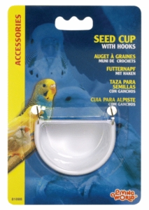 (B1888) Living World Seed Cup with Hook, Large