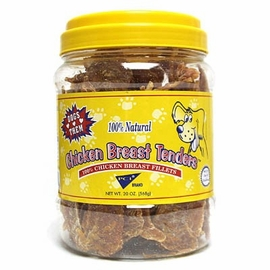 Chicken Breast Tenders for Dogs from PCI 16 oz Canister (1 lb)