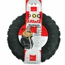 Dogit Jawz Rubber Paw Print Tire, Black, Medium