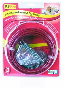 Dogit Pet Tether Puppy Tie-out Cable, 10' Green