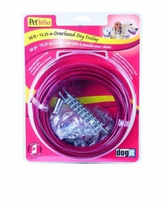 Dogit Pet Tether Tie-out Cable, Large 30' Red