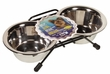 Dogit Stainless Steel Double Dog Diner, Mini