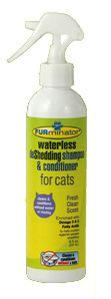 Furminator Waterless deShedding Shampoo and Conditioner for Cats 8 oz Bottle