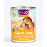 Halo Spot's Stew For Dogs Wholesome Chicken Recipe Canned Dog Food 12 / 5 oz Cans