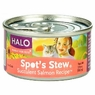 Halo Spots Stew For Cats Succulent Salmon Recipe Canned Cat Food 12 - 3 oz Cans