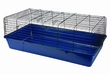 Large Rabbit Cage Navy Blue Base With Black Wire 40 Long X 20 Wide X 15 inch High