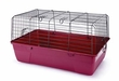 Small Rabbit Cage Burgundy Base With Black Wire 23 Long X 14 Wide X 13 inch High
