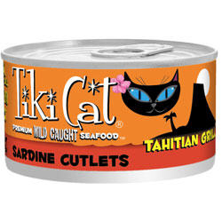 Tiki Cat Tahitian Grill Sardine Cutlets Canned Cat Food 8 / 6 oz Cans