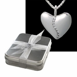 10 Diamond Silver Harmony Heart (Large) in Gift Tin