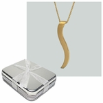 10th Anniversary Gift Tin with 18k Gold Ogee Necklace
