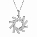 10th Anniversary Platinum Spiral Necklace