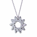 20th Anniversary Platinum Pendant: The Star Duality Necklace