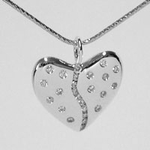 25 Diamond Harmony Heart (Sterling Silver)