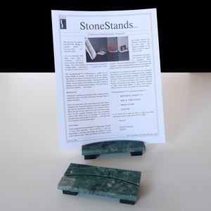 ArcStand Green Marble Document Stand (rectangular base)