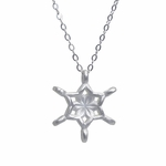 Art Nouveau Inspired Silver Snowflake Necklace