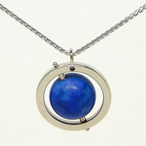 Blue Earth Pendant:  Give her the world!