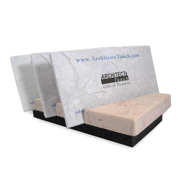 Pink marble business card holder with unique delicate veining for Marble business card holder