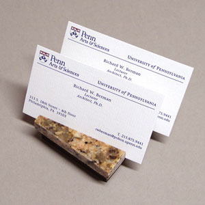 Compact Double Business Card Holder (burnt sienna granite)